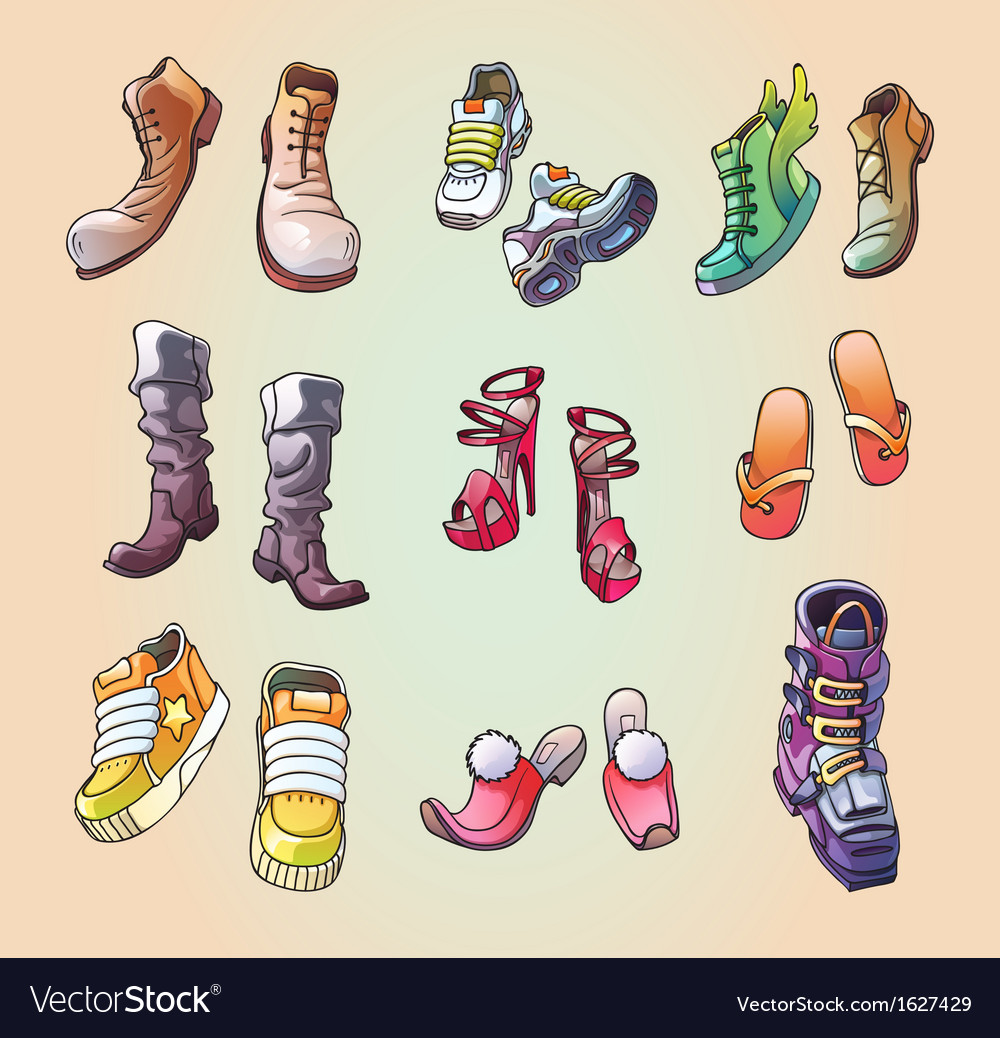 Some original shoes vector | Price: 1 Credit (USD $1)