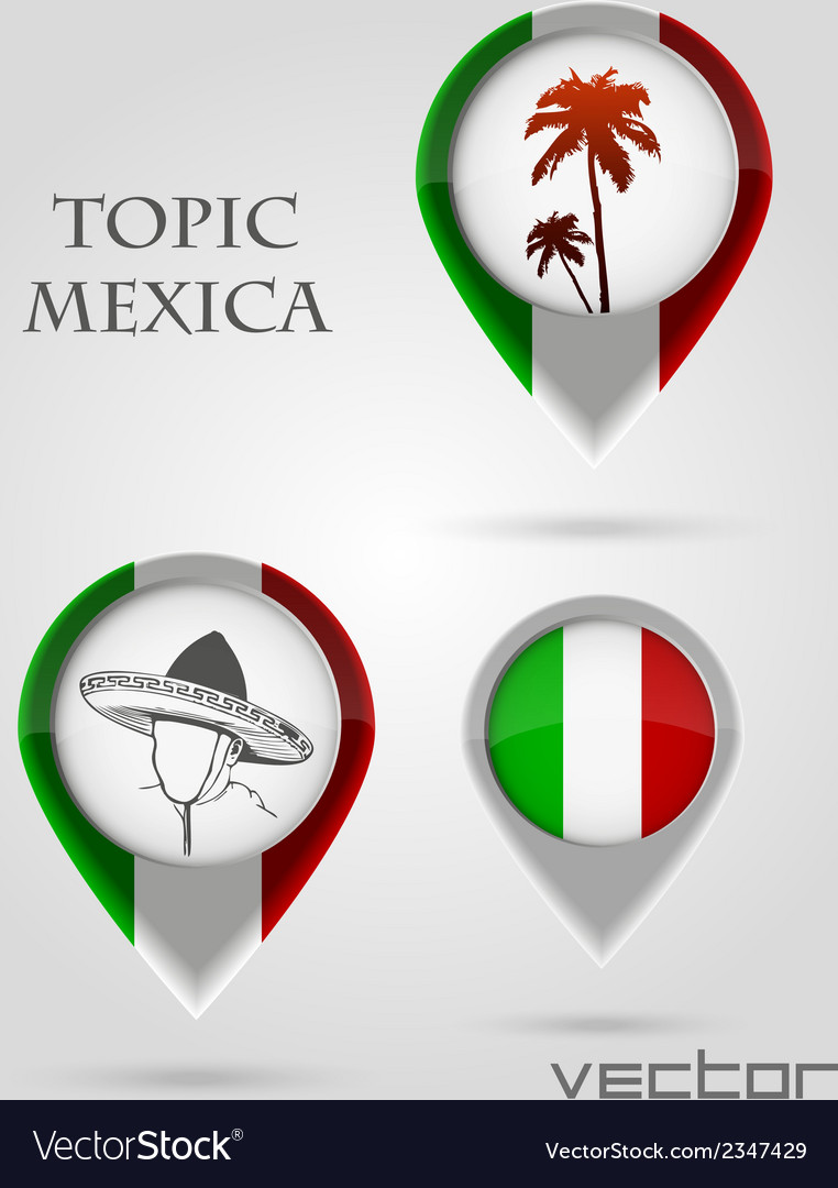 Topic mexica map marker vector | Price: 1 Credit (USD $1)
