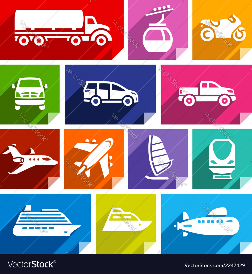 Transport flat icon bright color-07 vector | Price: 1 Credit (USD $1)