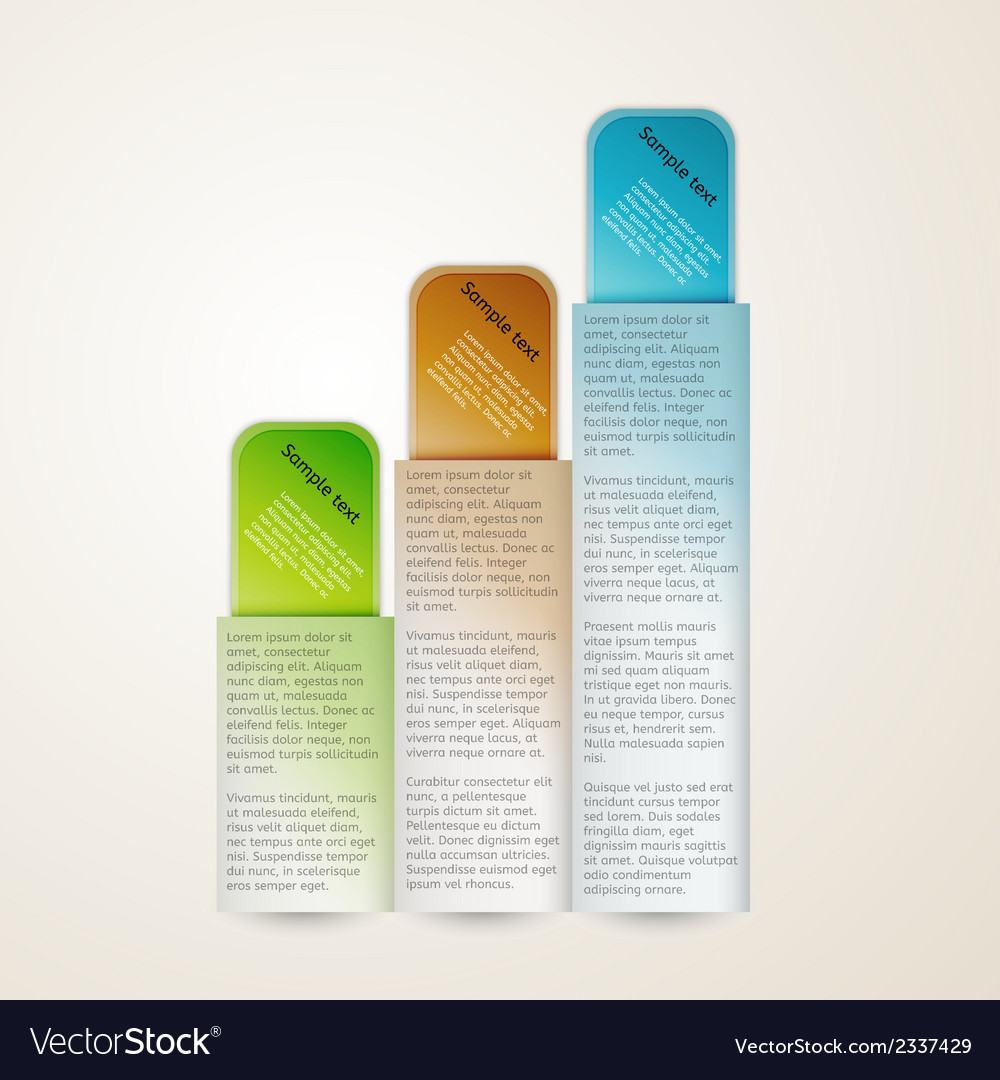 Vertical banners with sample text vector | Price: 1 Credit (USD $1)