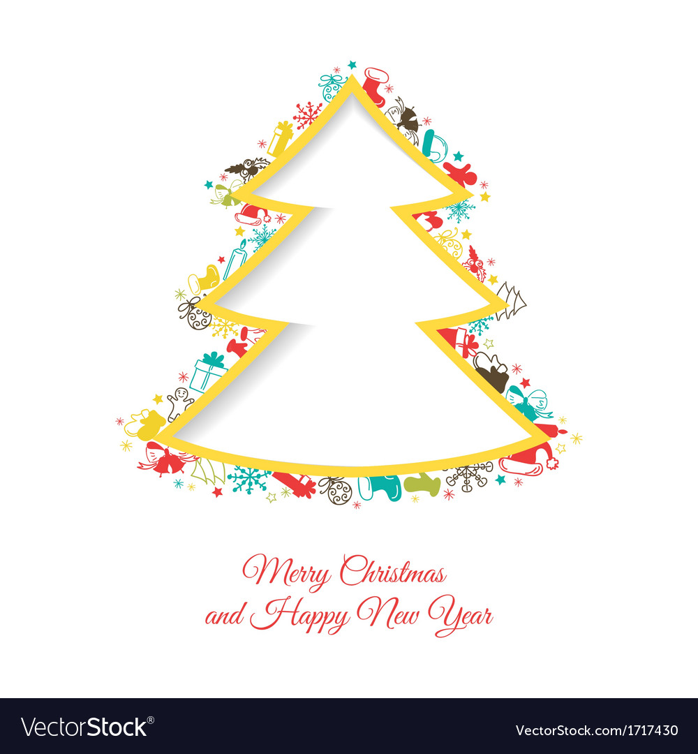 Abstract christmas tree made of christmas items vector | Price: 1 Credit (USD $1)