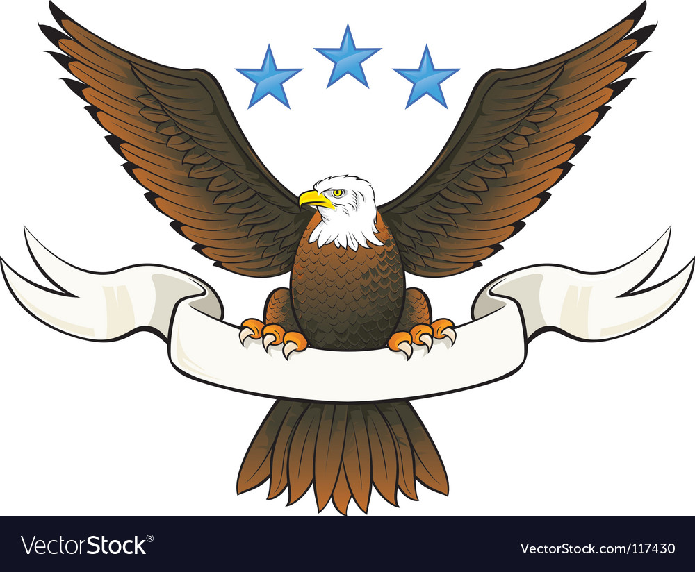Bald eagle insignia vector | Price: 1 Credit (USD $1)