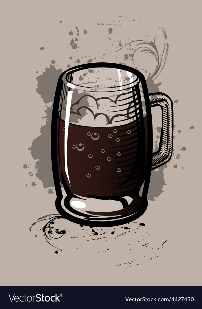 Beer cup vector | Price: 1 Credit (USD $1)