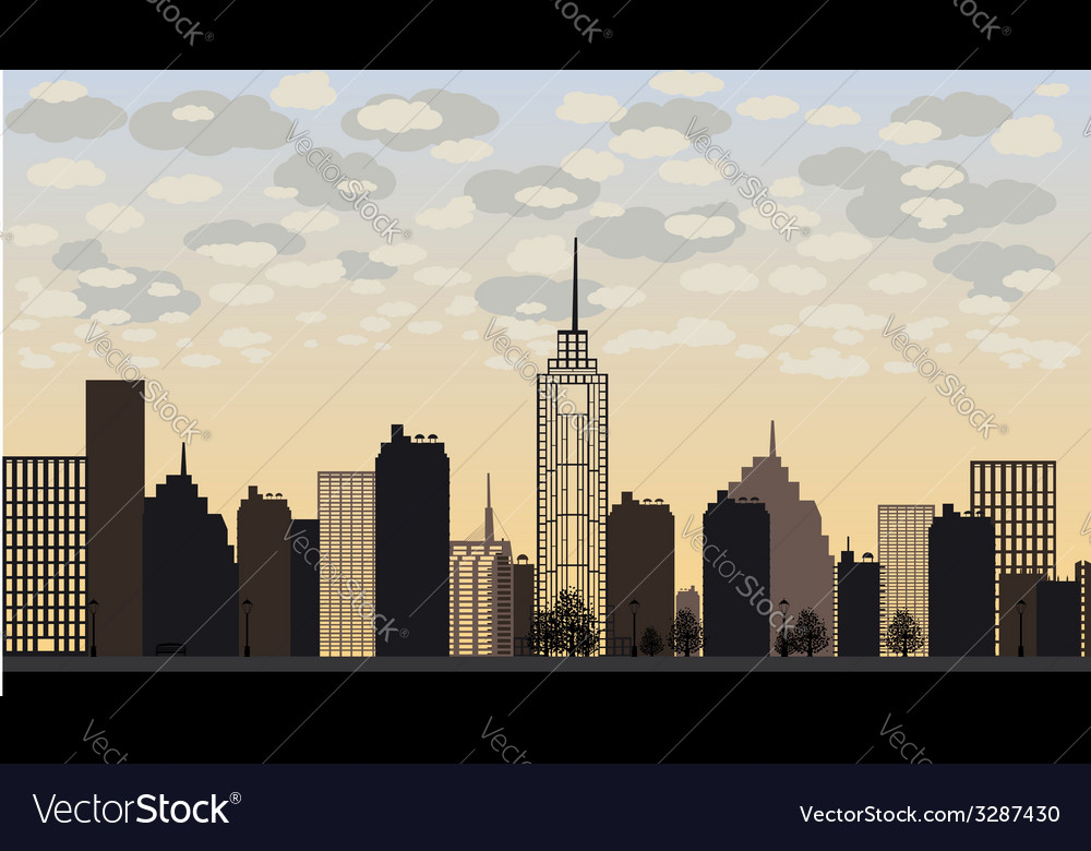 Big city and skyscrapers vector | Price: 1 Credit (USD $1)