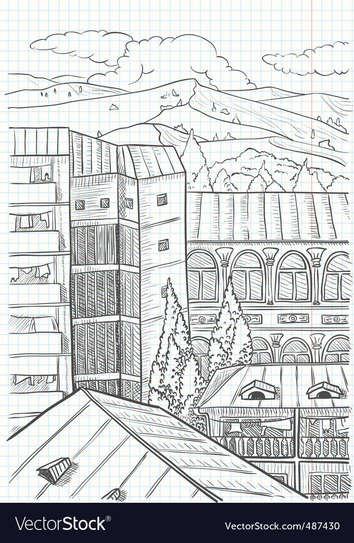City landscape vector   Price: 1 Credit (USD $1)