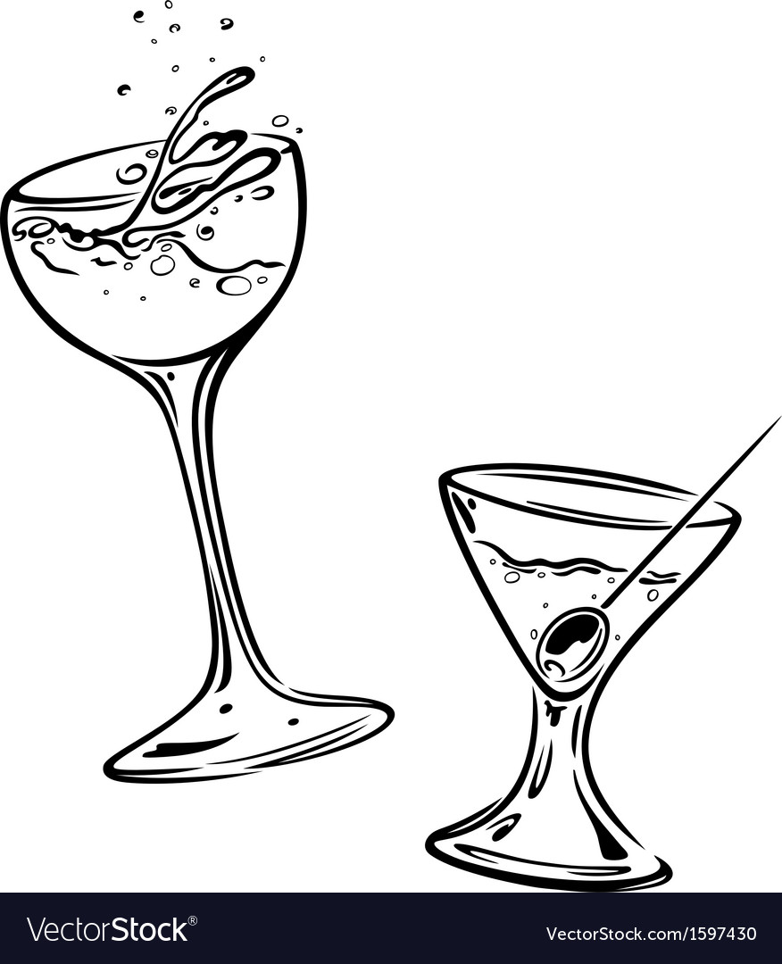 Cocktails glasses vector | Price: 1 Credit (USD $1)
