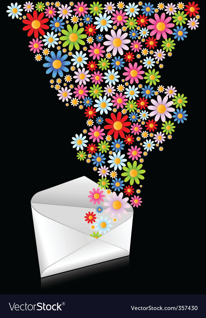 Flower mail vector | Price: 1 Credit (USD $1)