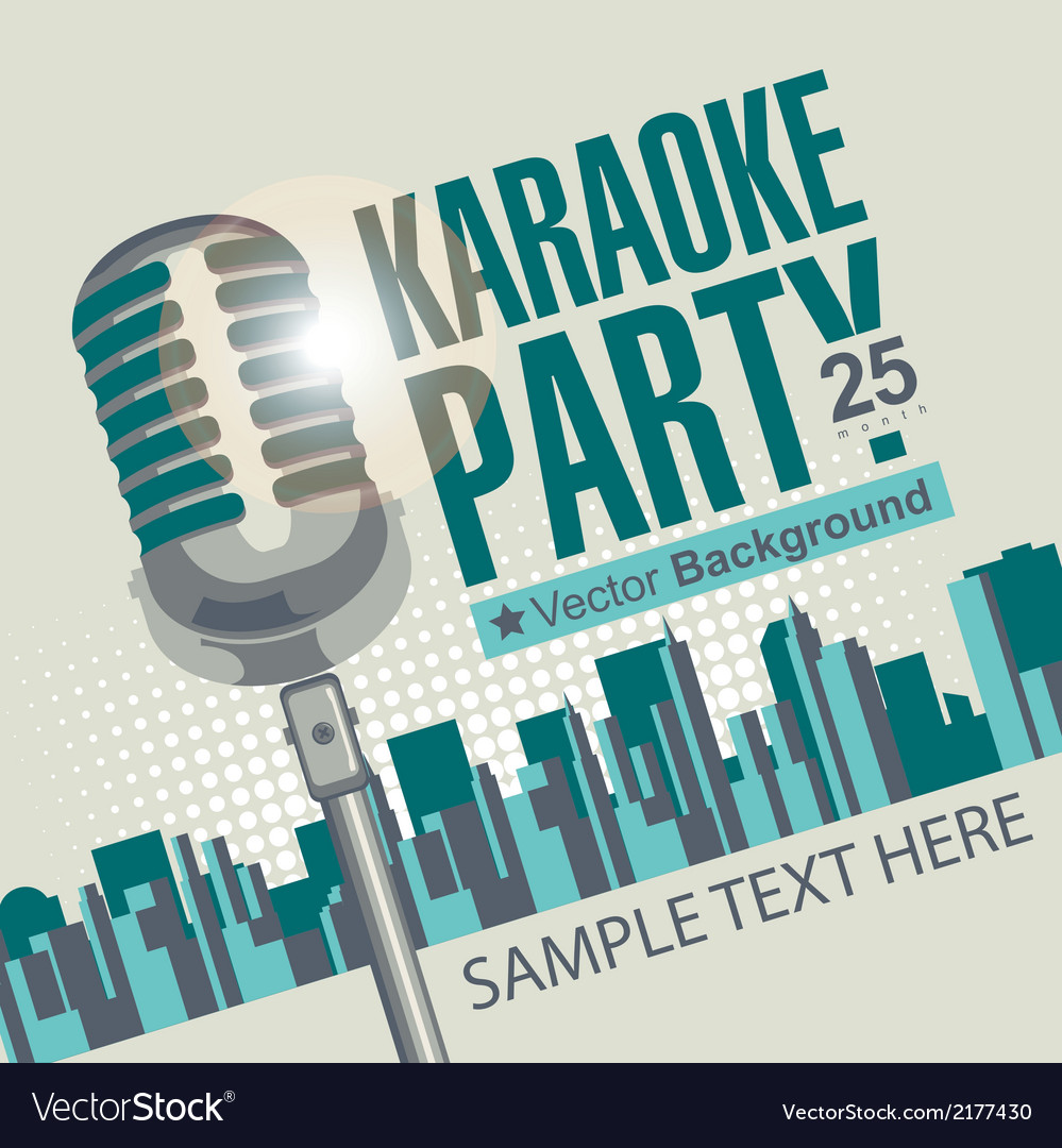 Karaoke parties vector | Price: 1 Credit (USD $1)