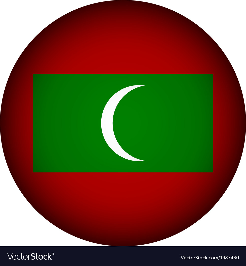 Maldives flag button vector | Price: 1 Credit (USD $1)