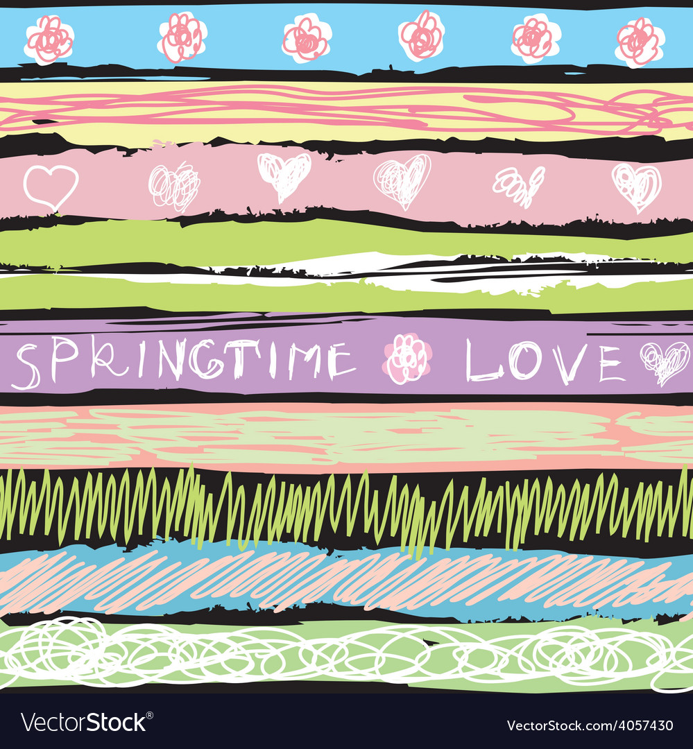 Spring background in sorbet colors vector | Price: 1 Credit (USD $1)