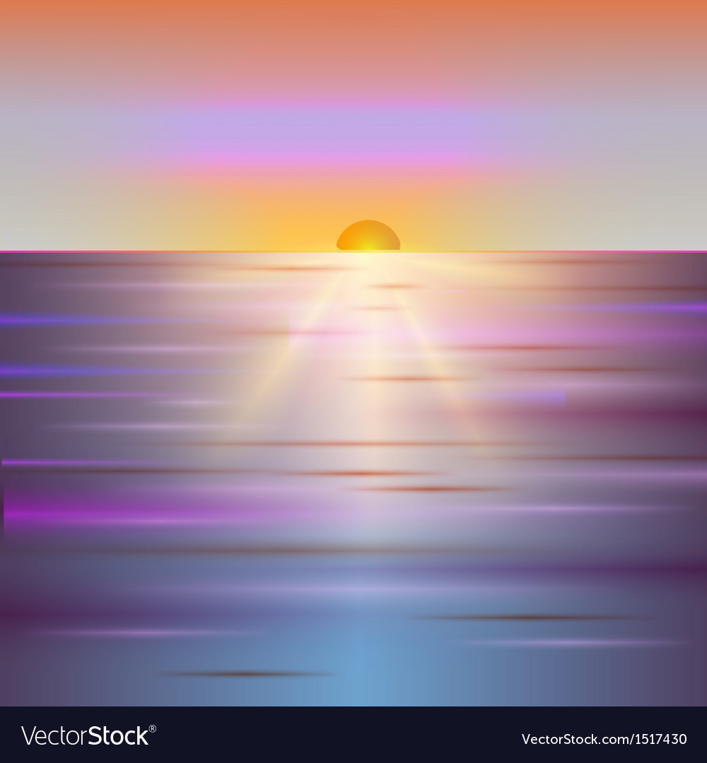 Sunrise abstract background vector | Price: 1 Credit (USD $1)