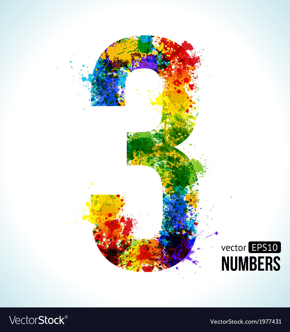 Color paint splashes gradient number 3 vector | Price: 1 Credit (USD $1)
