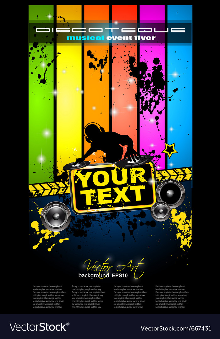 Dj party vector | Price: 3 Credit (USD $3)