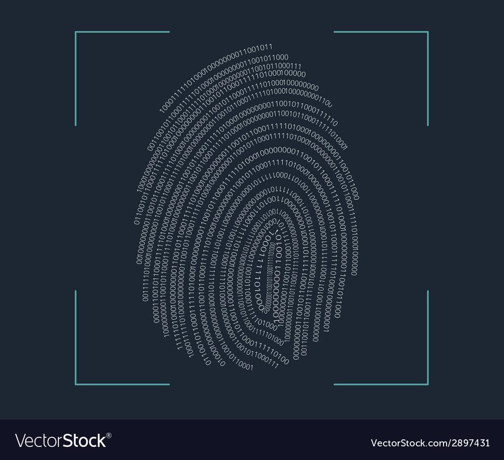 Fingerprint scanning vector | Price: 1 Credit (USD $1)