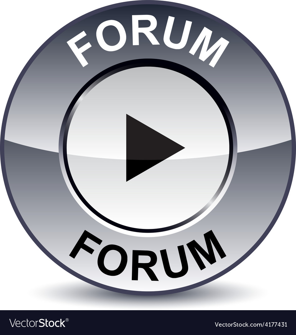 Forum round button vector | Price: 1 Credit (USD $1)