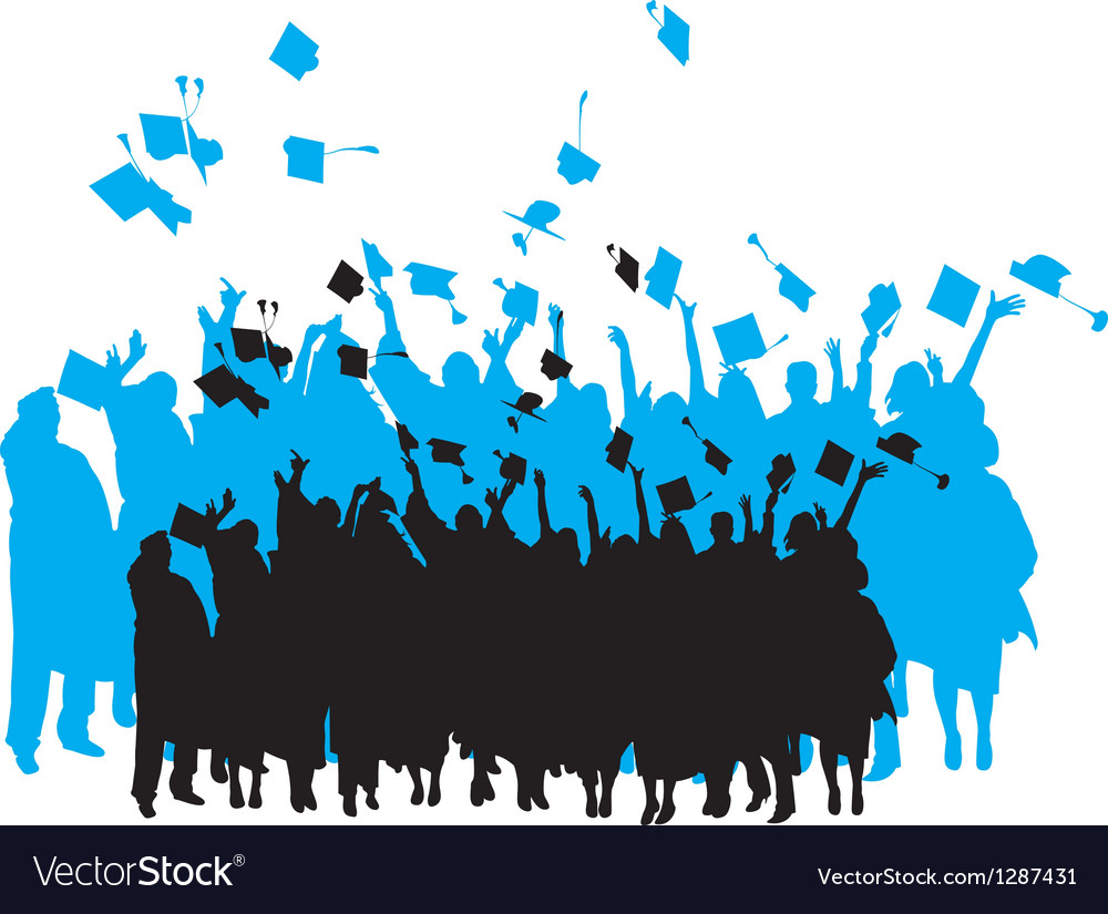 Graduation silhouette vector | Price: 1 Credit (USD $1)