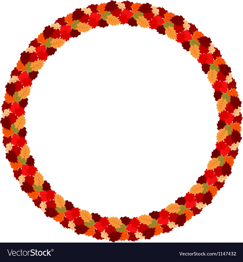 Abstract frame of autumn leaves eps10 vector | Price: 1 Credit (USD $1)