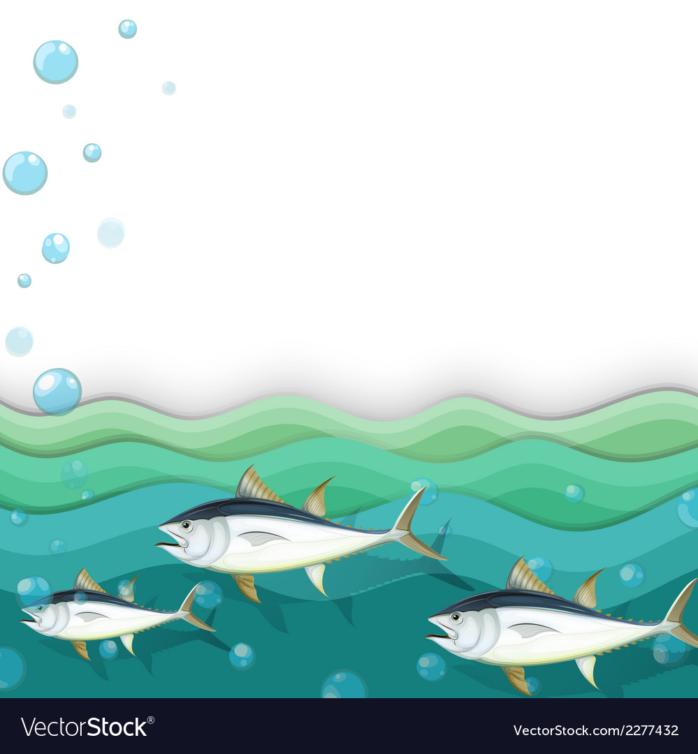 An ocean with fishes vector | Price: 1 Credit (USD $1)