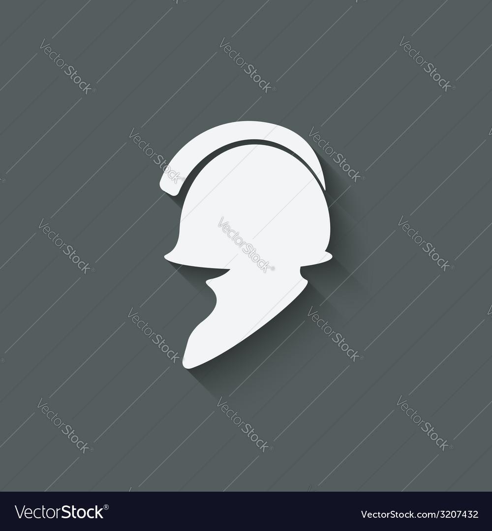 Antique helmet symbol vector   Price: 1 Credit (USD $1)