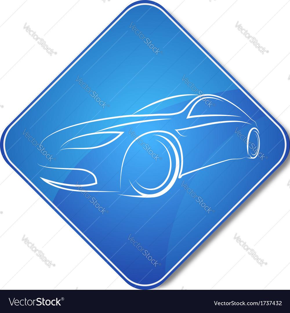 Auto design icon vector
