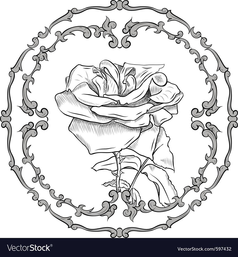 Baroque frame vector   Price: 1 Credit (USD $1)