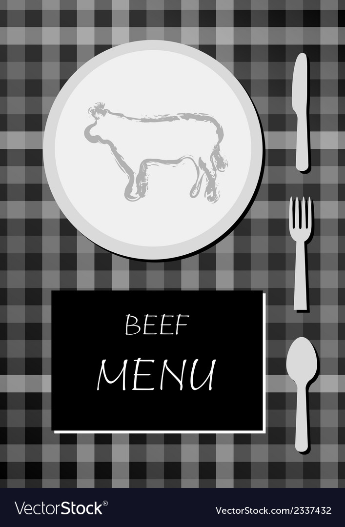 Beef menu vector | Price: 1 Credit (USD $1)