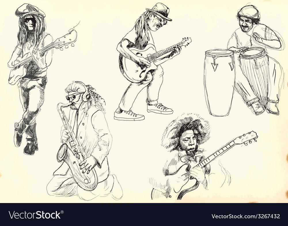 Collection - musicians vector | Price: 1 Credit (USD $1)