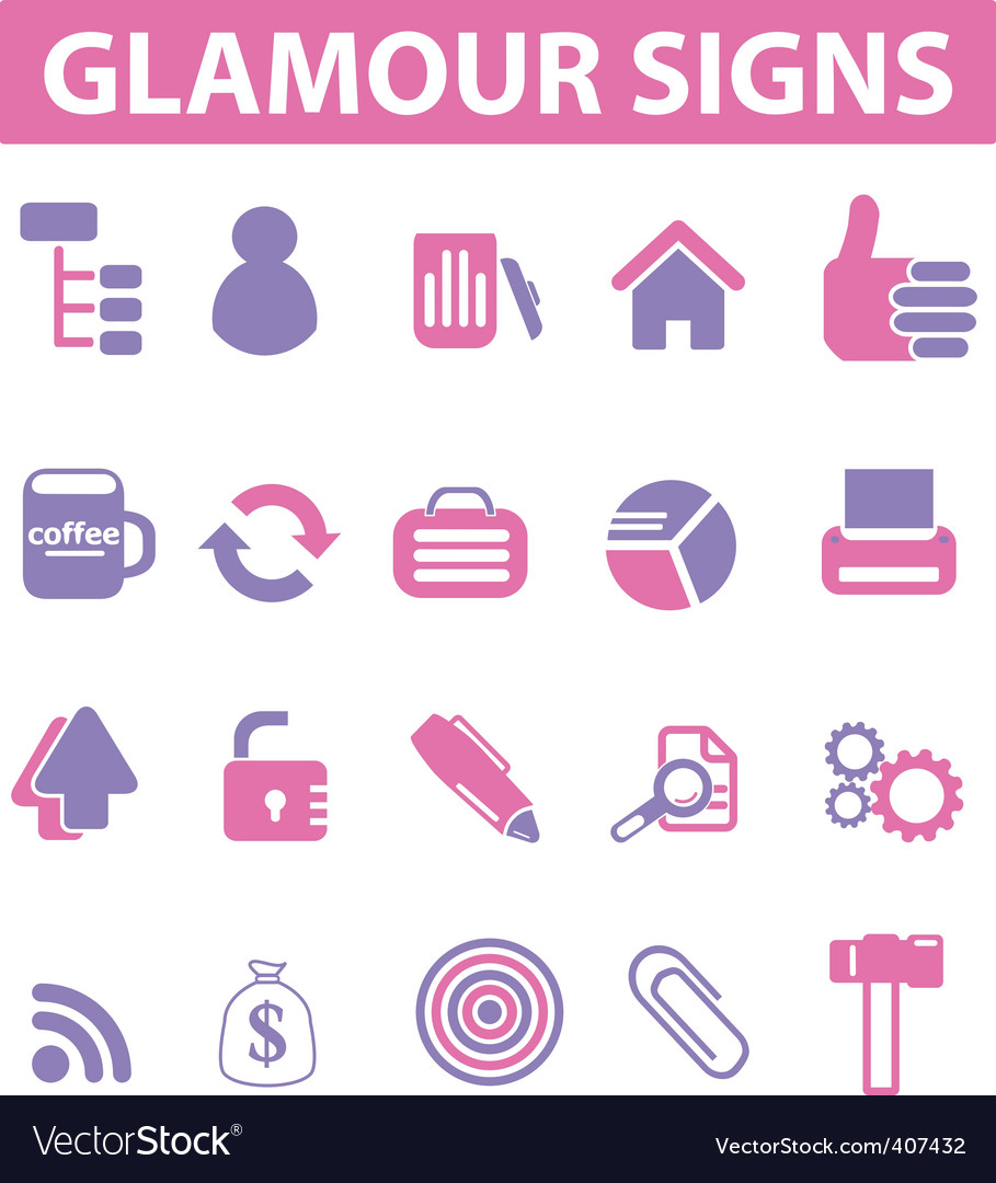 Glamour pink signs vector | Price: 1 Credit (USD $1)