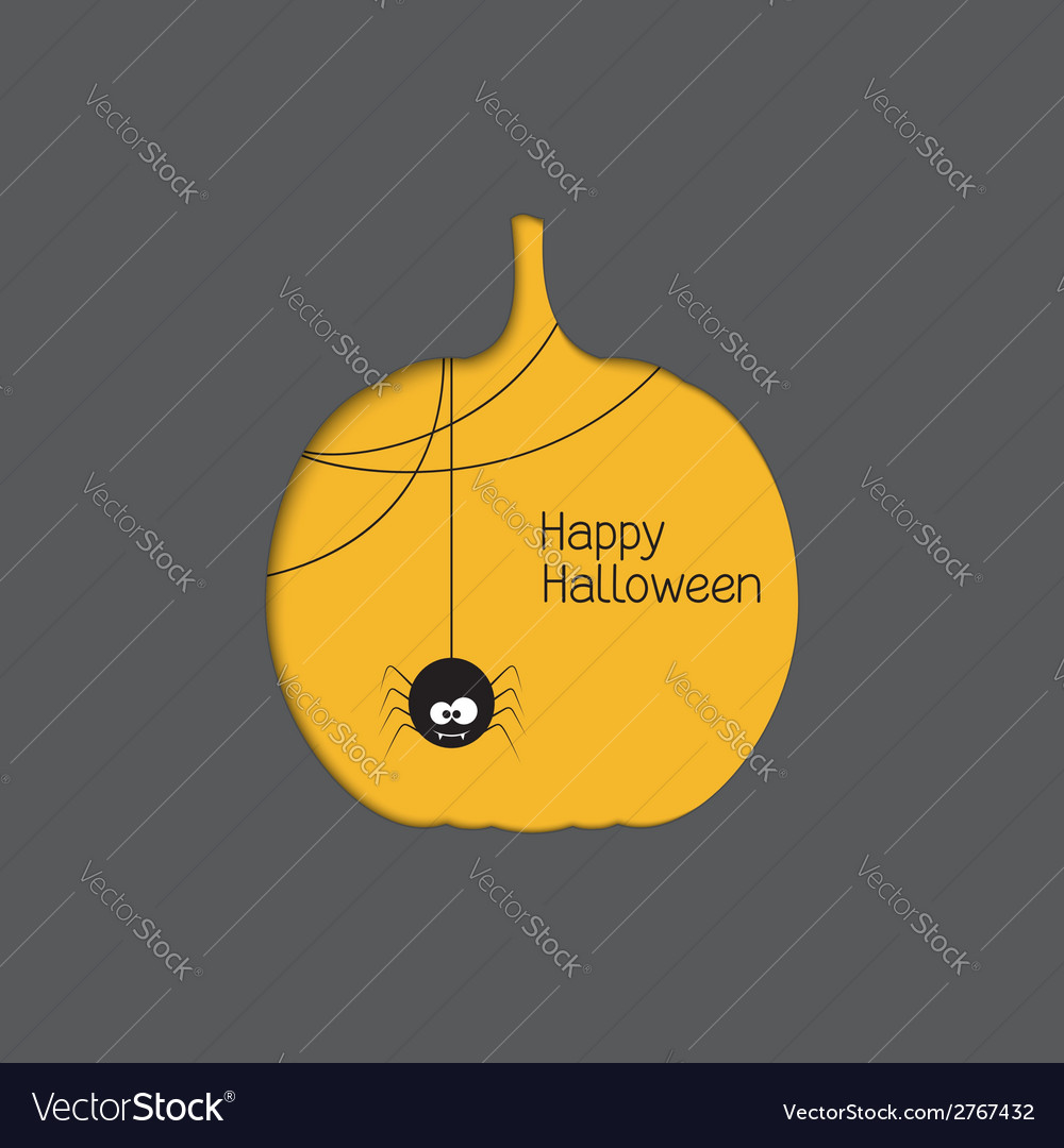 Halloween pumpkin with spider vector | Price: 1 Credit (USD $1)