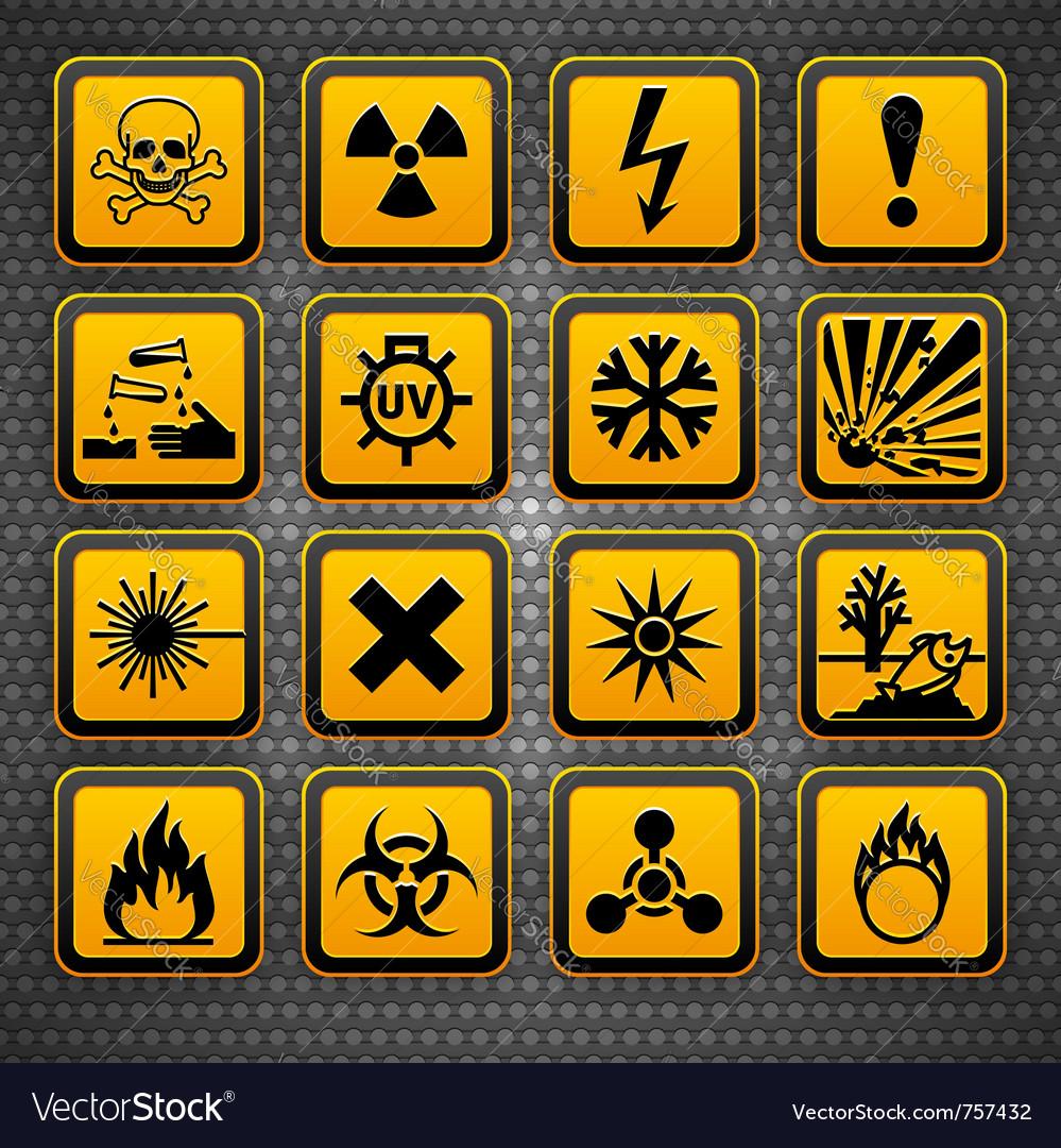 Hazardous materials symbols vector | Price: 1 Credit (USD $1)