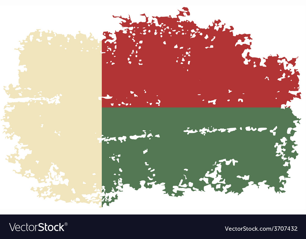 Madagascar grunge flag vector | Price: 1 Credit (USD $1)