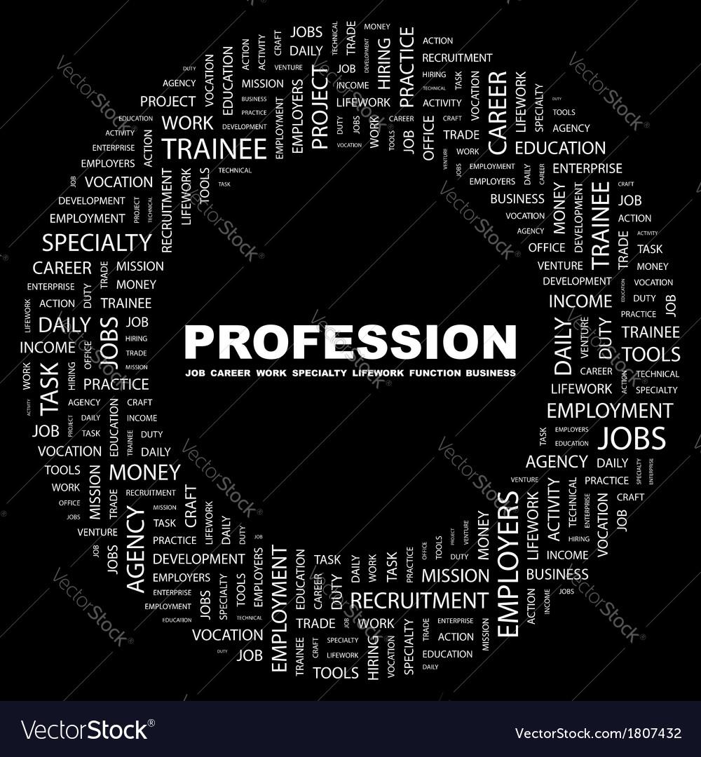 Profession vector   Price: 1 Credit (USD $1)