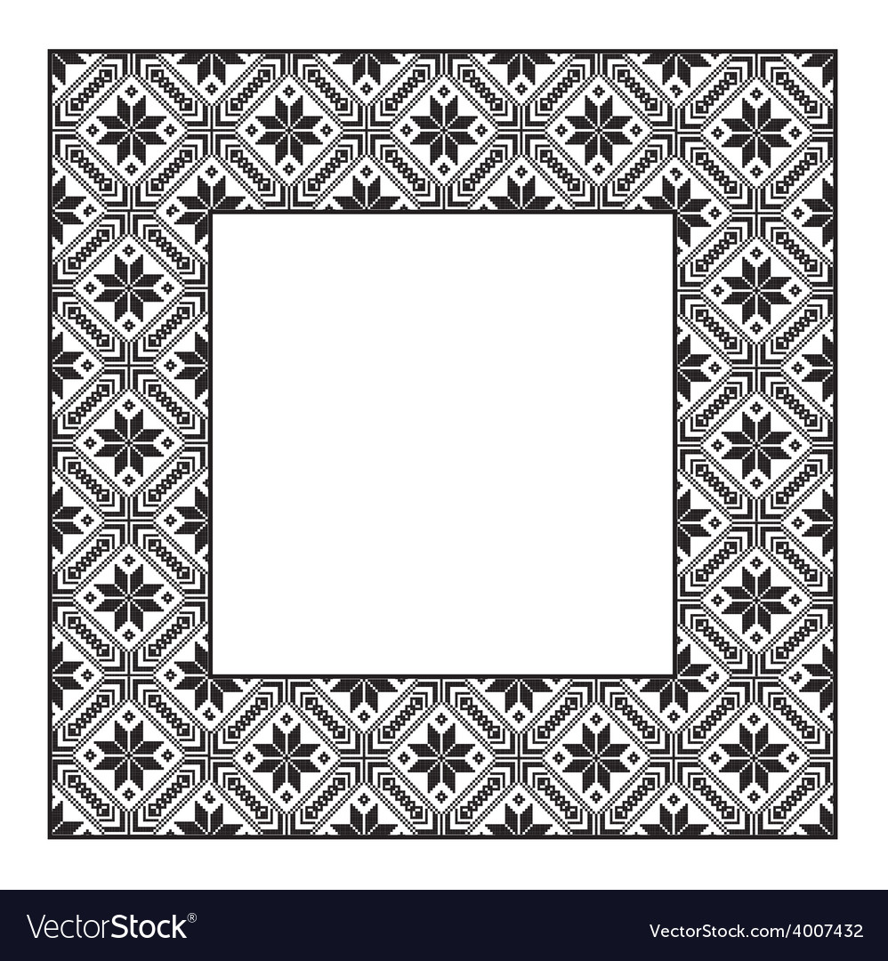 Set square frame ornamental ethnic vector | Price: 1 Credit (USD $1)