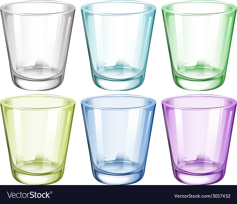 Six glasses vector | Price: 1 Credit (USD $1)