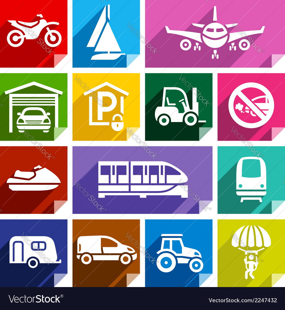 Transport flat icon bright color-08 vector | Price: 1 Credit (USD $1)
