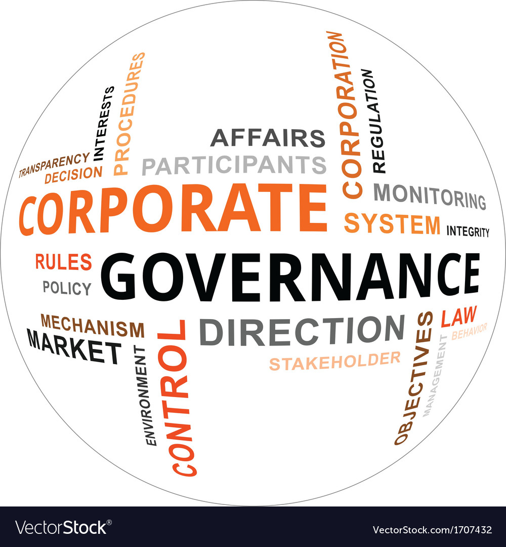 Word cloud corporate governance vector | Price: 1 Credit (USD $1)