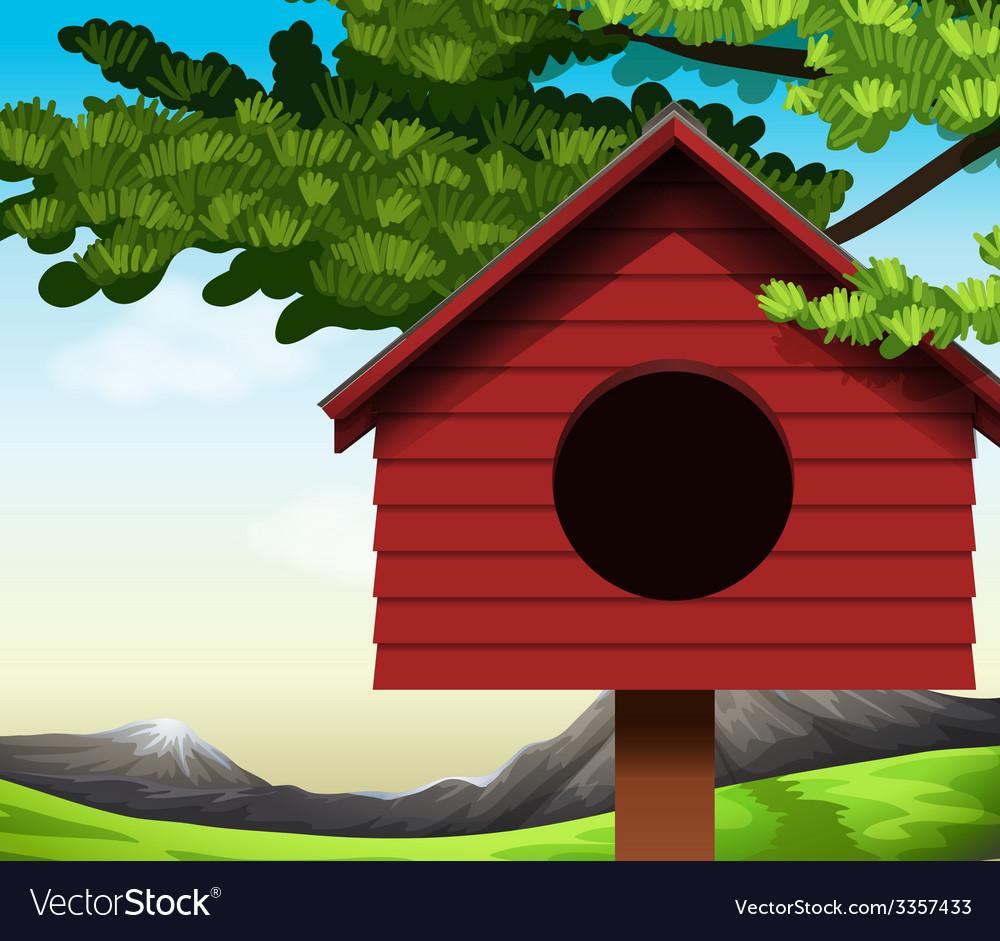 A birdhouse vector | Price: 1 Credit (USD $1)