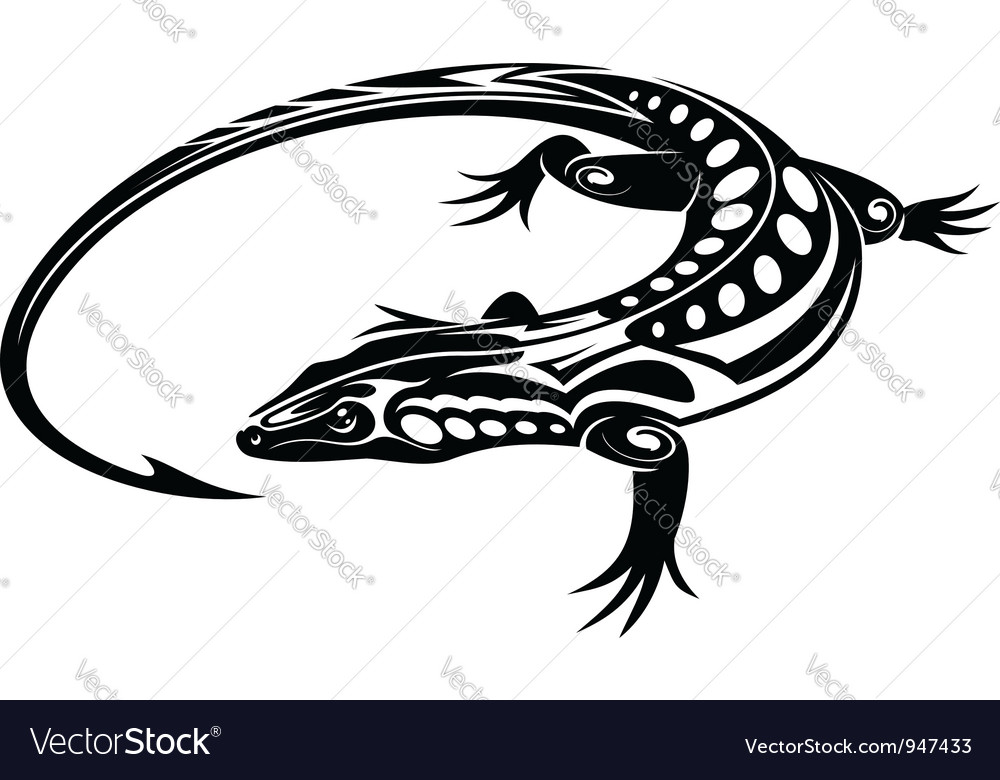 Black iguana lizard vector | Price: 1 Credit (USD $1)