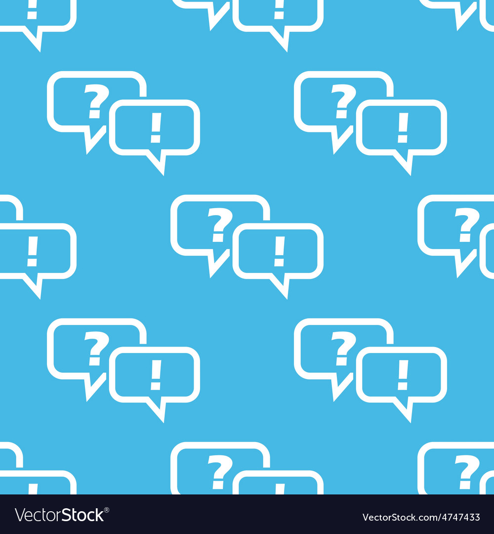 Blue anwering question pattern vector | Price: 1 Credit (USD $1)