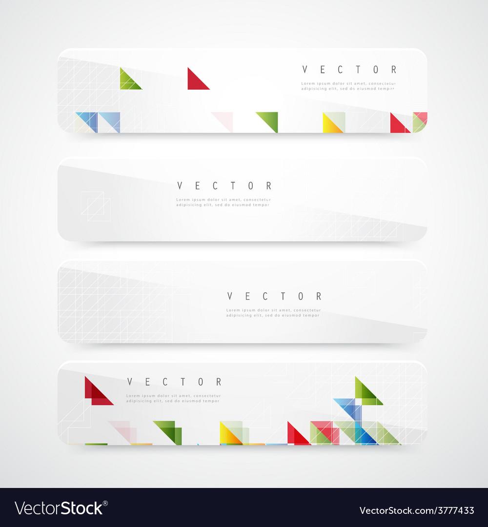 Flyer template header design vector
