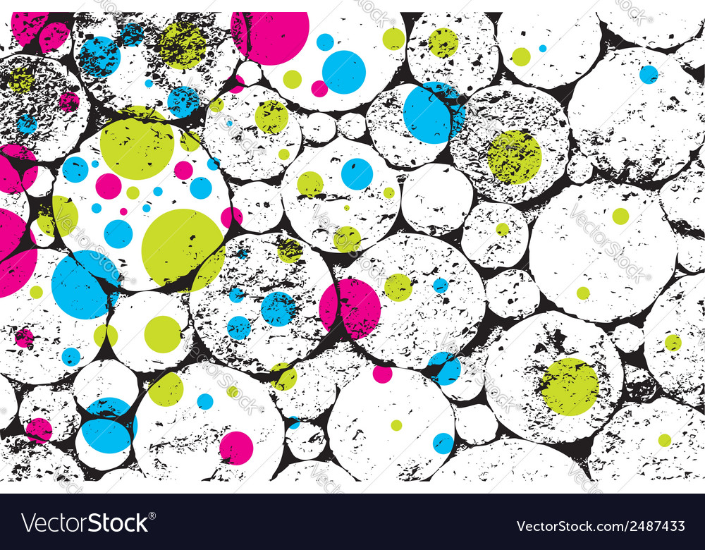Grunge texture with color rings vector | Price: 1 Credit (USD $1)