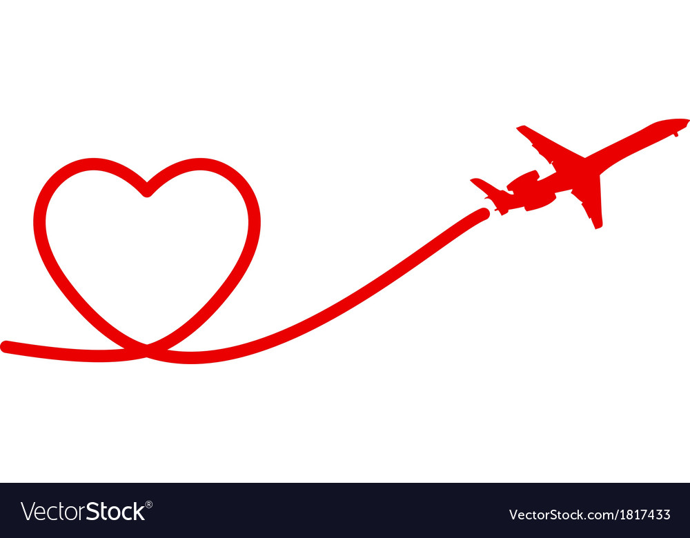 Heart plane vector | Price: 1 Credit (USD $1)