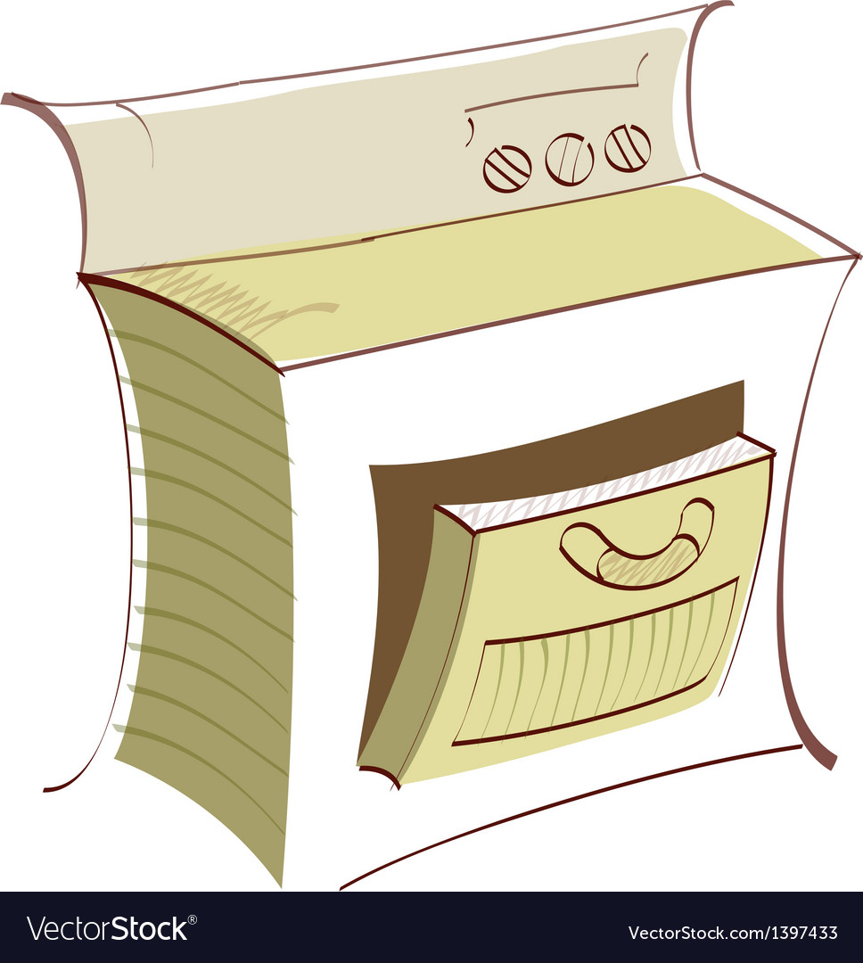 Icon oven vector | Price: 1 Credit (USD $1)