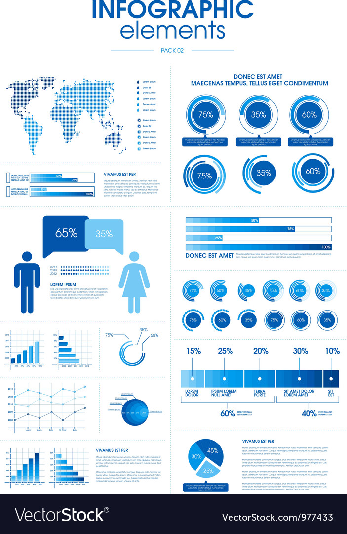 Infographic elements-pack 2 vector | Price: 1 Credit (USD $1)