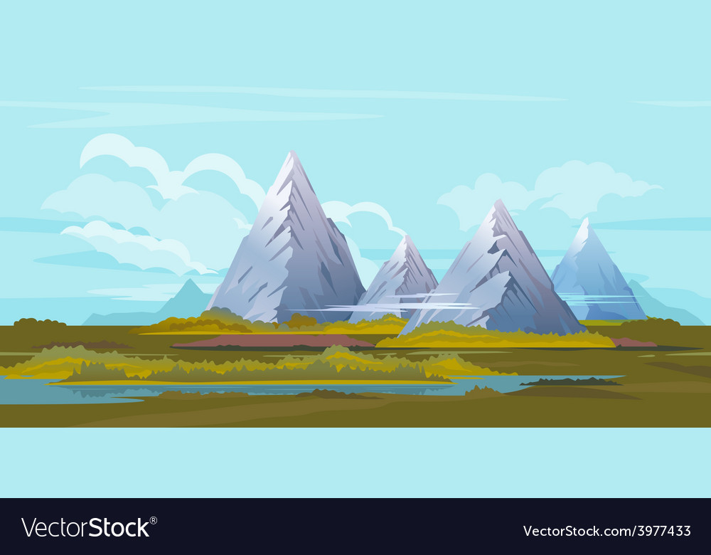 Mountains landscape background vector | Price: 3 Credit (USD $3)
