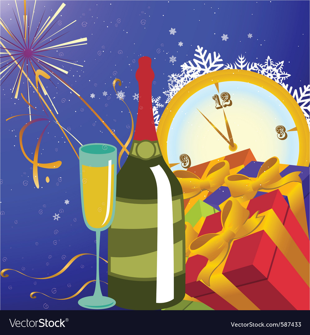 New year party background vector | Price: 1 Credit (USD $1)