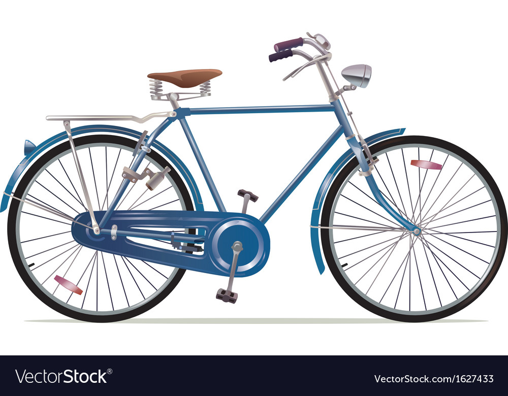 Old style retro bicycle vector | Price: 1 Credit (USD $1)
