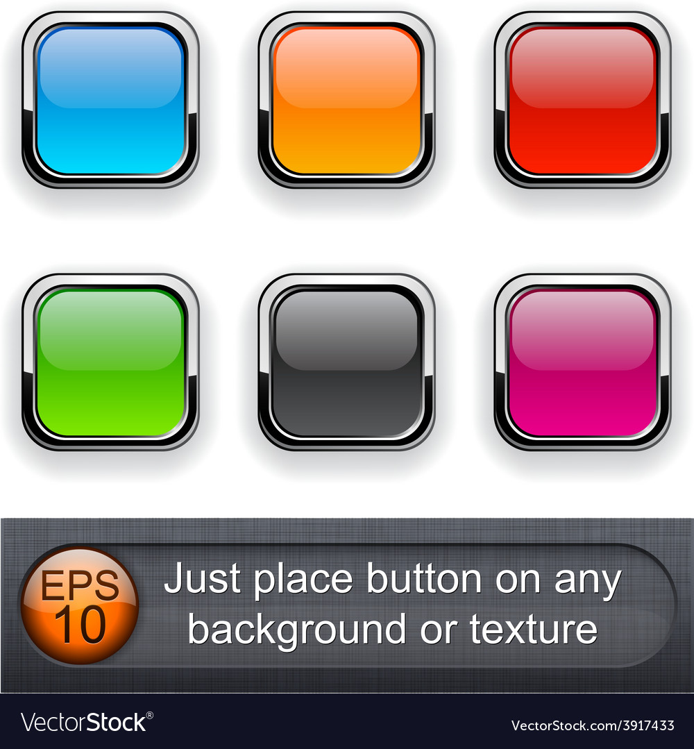 Square glossy buttons vector | Price: 1 Credit (USD $1)