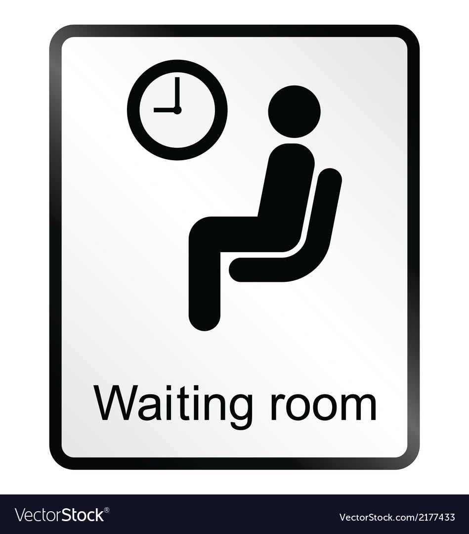 Waiting room information sign vector | Price: 1 Credit (USD $1)
