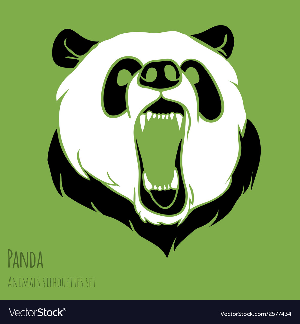 Angry panda vector | Price: 1 Credit (USD $1)
